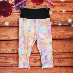 NYDJ Pastel Floral Cropped Leggings